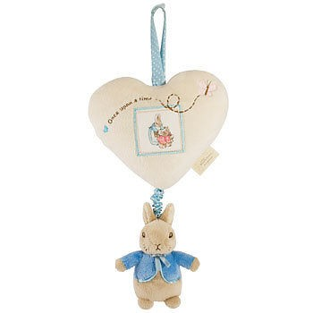 Musical Peter Rabbit Pull Down Cot Soft Toy Baby Mobile