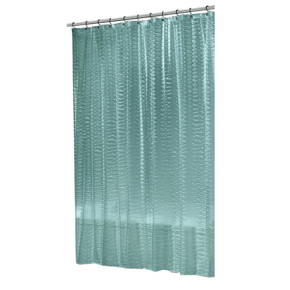 Teal And Green Shower Curtain Blue and Yellow Plaid Shower