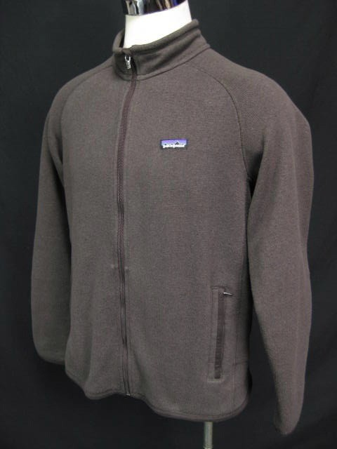 Patagonia Mens Better Sweater Full Zip Brown Jacket Size Large