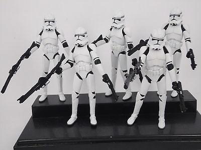 5x Star Wars 2012 Stormtrooper helmet can removie loose