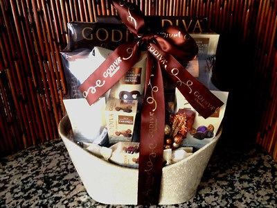 Christmas Holiday Godiva Gift Houdini Gift Basket chocolate,coffee