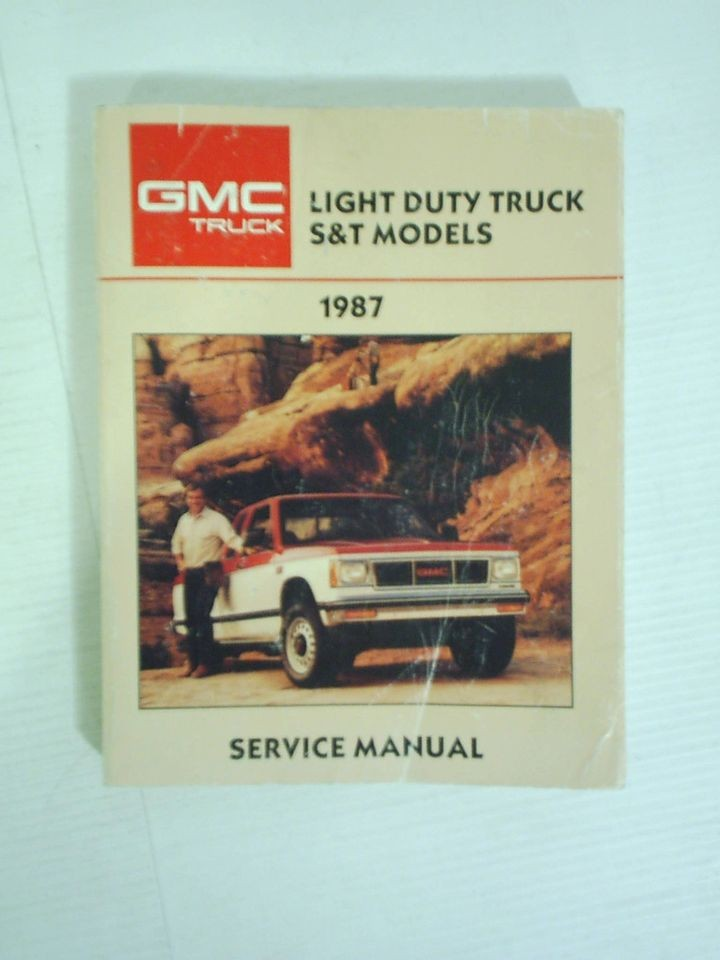 1987 GMC S10 S15 Truck Blazer Jimmy Sonoma Service Shop Repair Manual