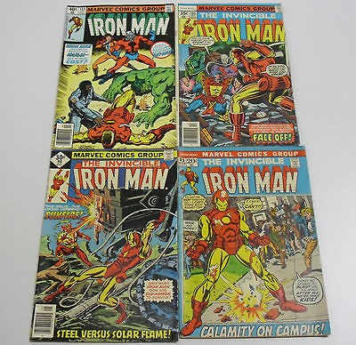 Classic Marvel Comic the Invincible Iron Man Lot #45, #98, #105, #133