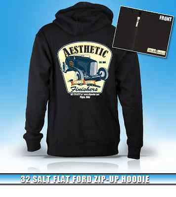 Aesthetic Finishers 1932 Salt Flat Ford Hot Rod Zip up Hooded Hoodie