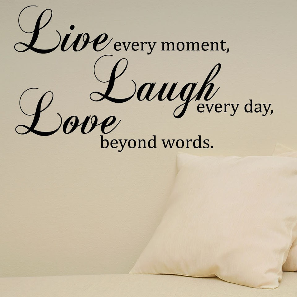 Live Laugh Love Quote Wall Stickers Wall Decals Self Adhesive Sticker