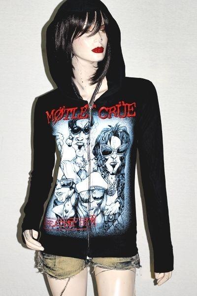 Motley Crue Heavy metal Rock DIY Slim Fit Hoodie Jacket Top Shirt