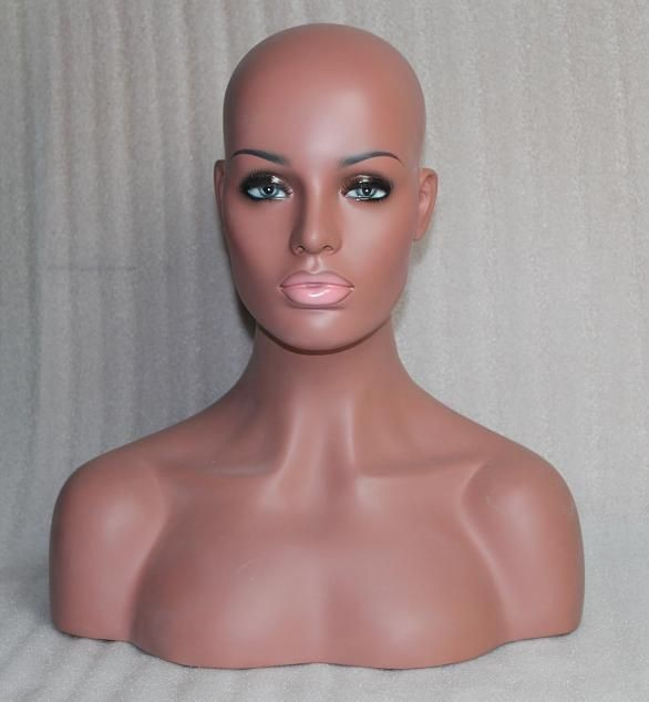 REALISTIC mannequin head bust for wig & jewelry & display store