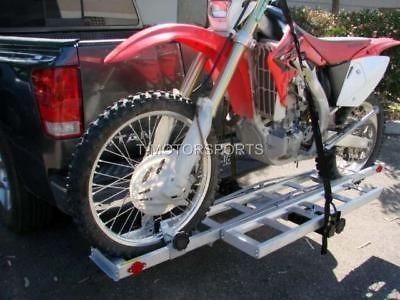 DIRT BIKE MOTORCYCLE CARRIER RACK RAMP TRAILER HITCH HAULER TRUCK PICK