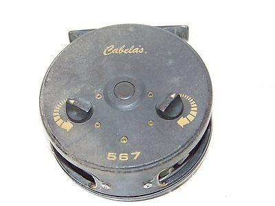 Vintage cabelas 567 fly fishing reel trout pan fish gear for Cabela s fishing reels