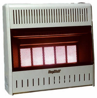 KWN323 5 Plaque Infrared 30,000 BTU Natural Gas Vent Free Wall Heater