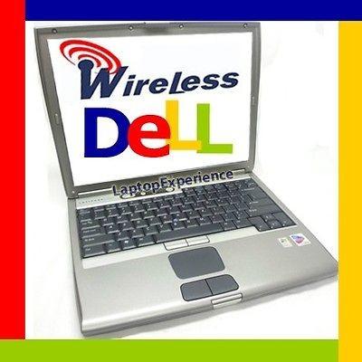 DELL LATiTUDE LAPTOP D500 NOTEBOOK WINDOWS XP CDROM COMPUTER WiFi FAST