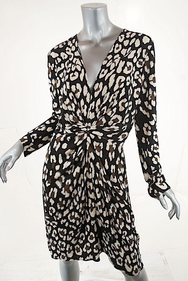 ISSA LONDON 100% Silk Jersey Dress W/Fun Print FABULOUS NWT Sz US 12