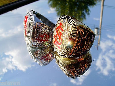 2006 & 2011 St Louis Cardinals World Series Championship Ring Replicas