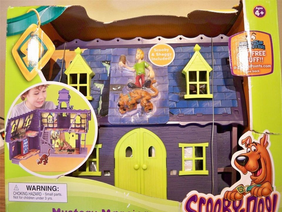 Open Box Scooby Doo Mystery Mates Deluxe Playset Mystery Mansion w