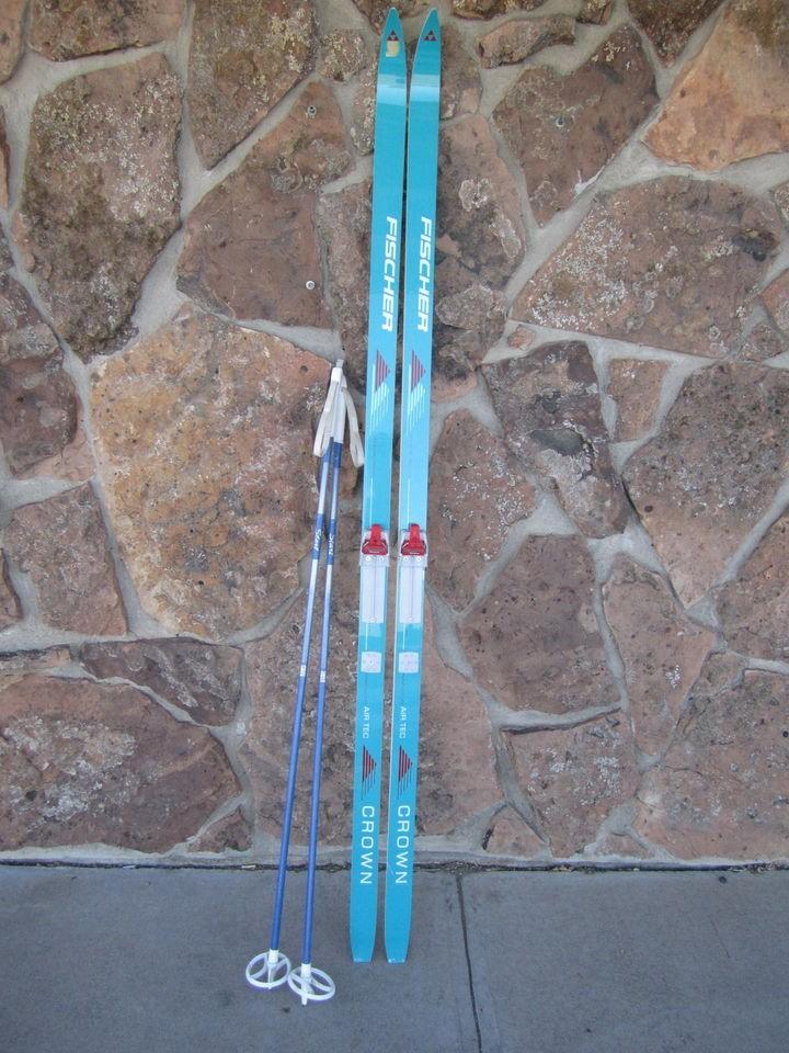 Country Crown Air Tec Cross Country Skis w Salomon SNS Bindings 195cm