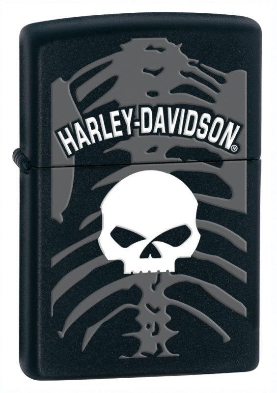 Zippo Harley Davidson Skull Lighter, Black Matte, Low Shipping
