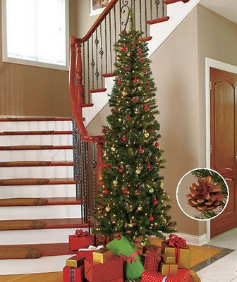 HOLIDAY 7 FT SLIM MULTI COLORED LIGHTED CHRISTMAS TREE TREES NEW