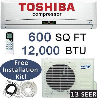 Split Air Conditioner & Heat Pump Air Con 12,000 btu AC Unit Ductless