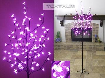 TEKTRUM 6.5 TALL/108 PINK LED CHERRY BLOSSOM TREE XMAS