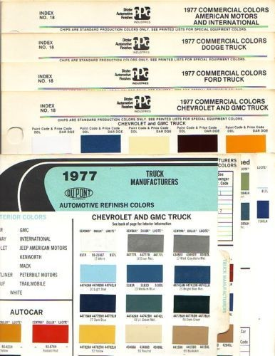 1977 CHEVROLET TRUCK FORD TRUCK DODGE TRUCK JEEP IH TRUCK PAINT CHIPS