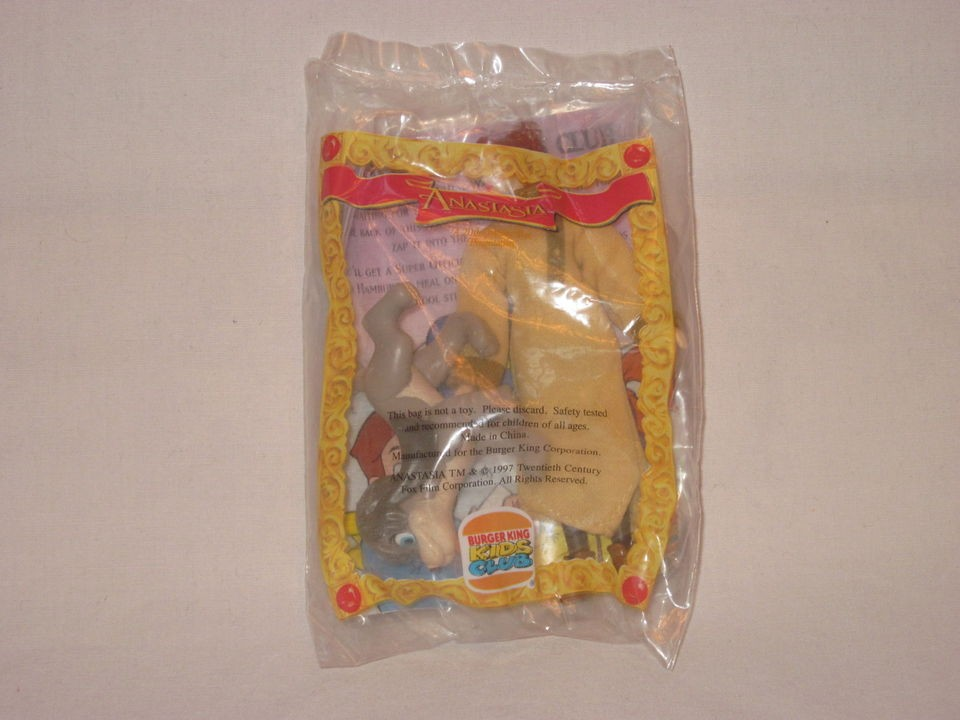 1997 Burger King ANASTASIA   ANASTASIA & POOKA Kids Meal Toy NEW NIP