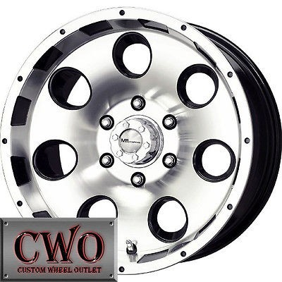 Black MB Razor Wheels Rims 8x165.1 8 Lug Chevy GMC Dodge 2500 2500HD