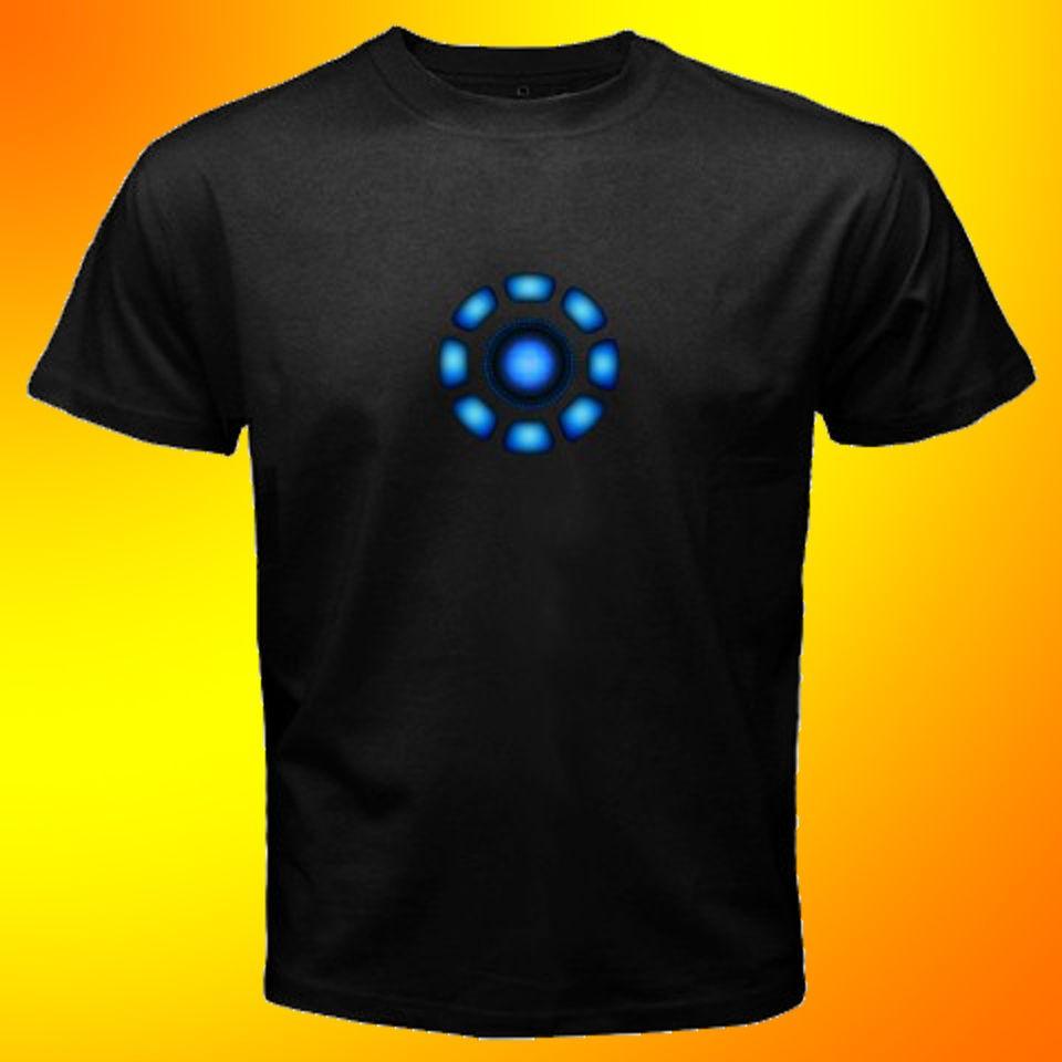 The Avengers Tony Stark Arc Reactor Iron Man T Shirt SIZE S,M,L,XL