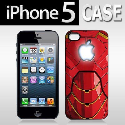 Rare  Iron Man Tony Stark The Avengers Apple Logo for APPLE iPhone