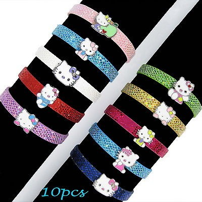 10× Cute Hello Kitty DIY Bracelet Kids Birthday Party Favous Bag Gift