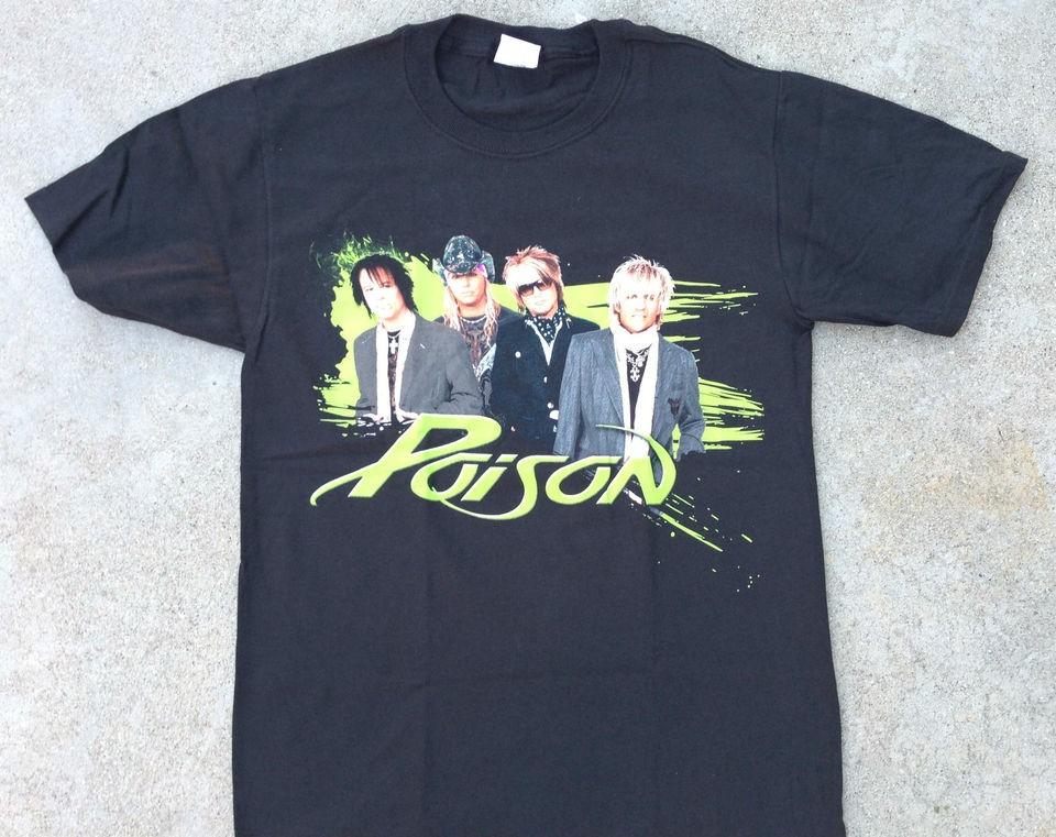 Poison Live Raw & Uncut 2008 Concert Tour Black Tee Shirt Tour Dates
