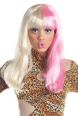 Pink White Nicki Minaj Costume Nicky Adult Women Long Straight Super