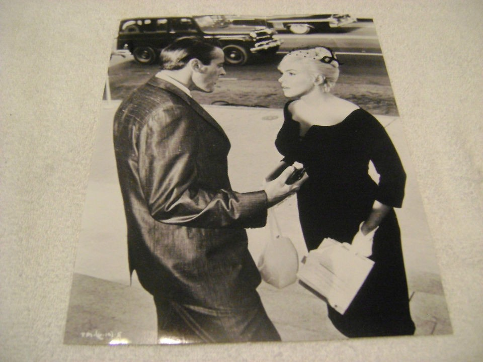 Rare Marilyn Monroe in Black Dress Black and White 8 by 10