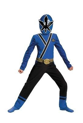 boys power rangers blue samurai costume dress dg31530