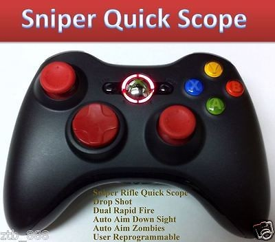 RAPID FIRE Black Ops 2 XBOX 360 MODDED CONTROLLER DROP SHOT RED NEW