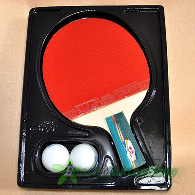 double fish 3a e Ping Pong Paddle Table Tennis Racket Short