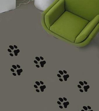 dog paw prints set floor walls vinyl sticker decal more options colour