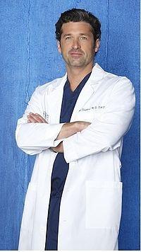 Derek Shepherd MCDREAMY i.d. Patrick Dempsey Greys Anatomy for