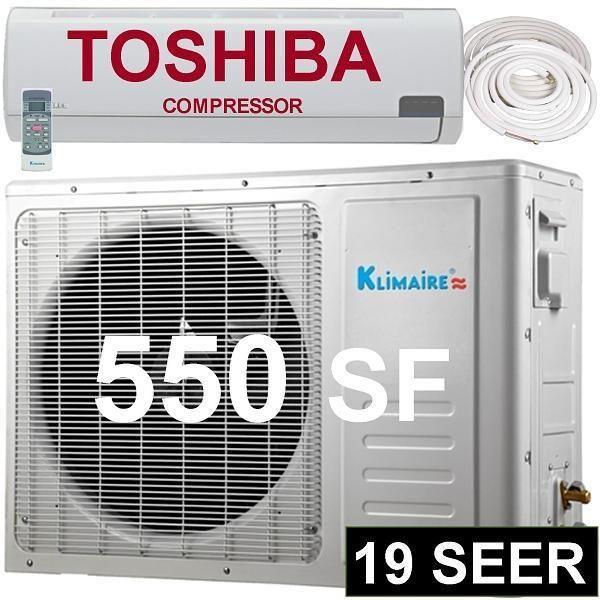 12000 BTU Ductless Split Air Conditioner Heat Pump   12,000 1 Ton AC