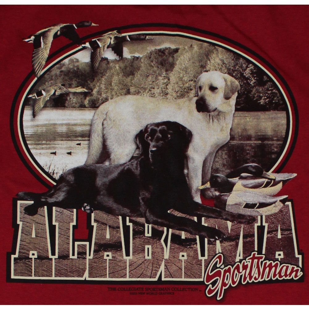 Alabama Crimson Tide Football T Shirts Alabama Sportsman Lab Dogs
