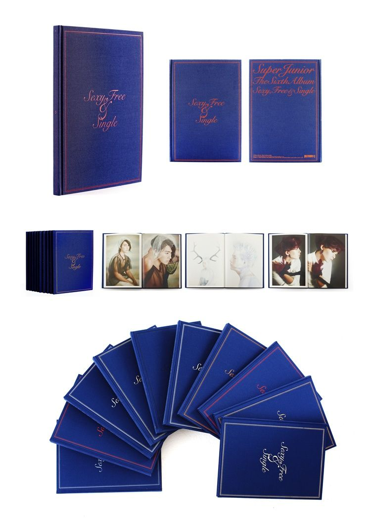 Hi Korean Fashion]Super Junior 6th Album   Sexy, Free & Single KPOP