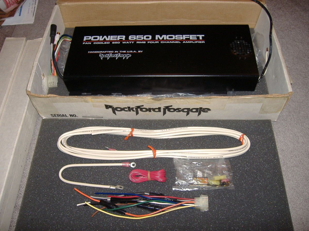 Old School Rockford Fosgate Power 650 Mosfet Amp Orignal Box Very Rare Specs