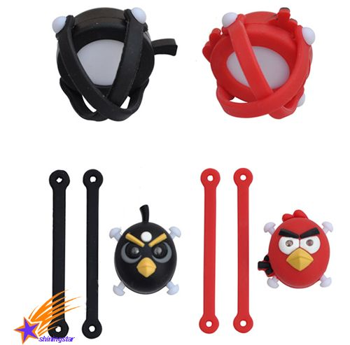 Silicone Bicycle Bike Cycle Head Light Wheel LED Flash Warning Light