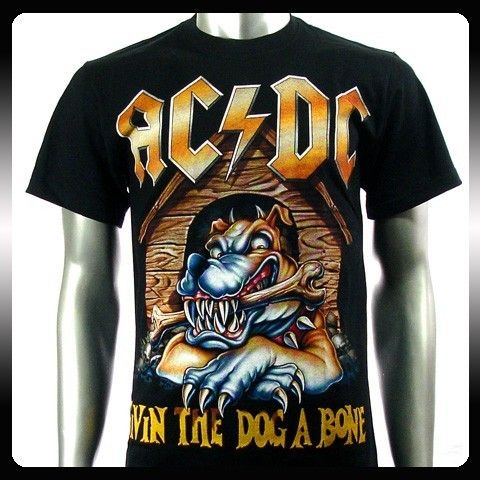 AC DC Angus Young Heavy Metal Rock Music T Shirt Sz XL Men