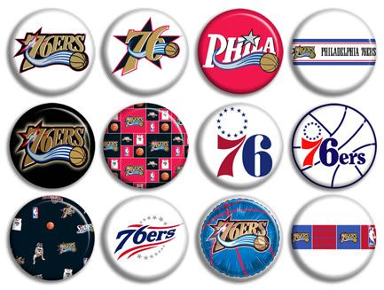 Sixers Basketball NBA Buttons Pins Badges New Hot Collection