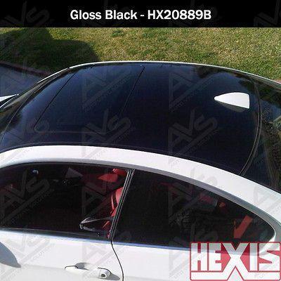 Hexis Gloss Black Vinyl Car Wrap Film Sheet Roll 6ft x 5ft (30sq/ft)