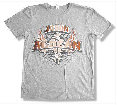 JASON ALDEAN   2011 EVENT LITTLE ROCK AR GREY T SHIRT   NEW ADULT 2XL