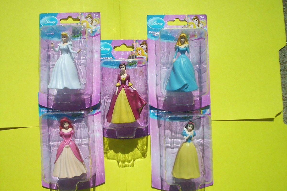 Disney Princess Cinderella Aurora SnowWhite Belle Ariel Cake Topper