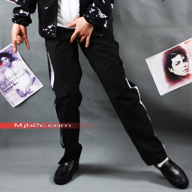 MJB2C Michael Jackson Costume Billie Jean Pants  silver stripe