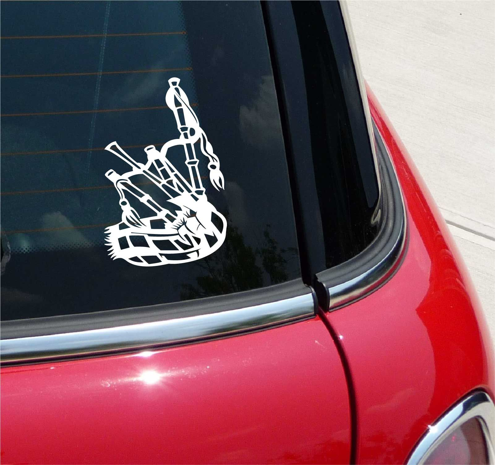 Bagpipes Scottish Kilt Music Piper Graphic Decal Sticker Vinyl Car