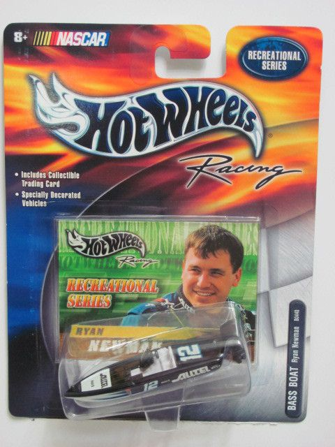 Hot Wheels Racing NASCAR Bass Boat Ryan Newman Recreational